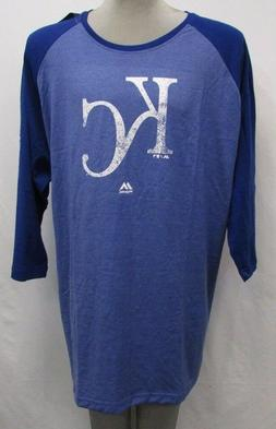 Kansas City Royals Men's Big & Tall  3/4-Sleeve Graphic Shir