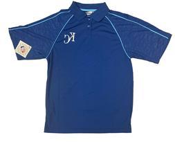 MLB Kansas City Royals Men's Blue Polo - Medium