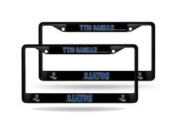 Kansas City Royals MLB 12x6 Black Metal  License Plate Frame