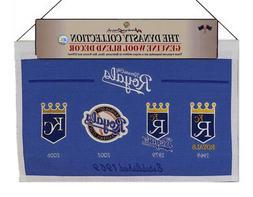 Kansas City KC Baseball Royals MLB LARGE 22x14 Wall Hanging