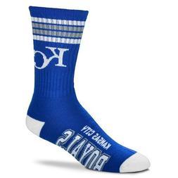Kansas City Royals For Bare Feet MLB 4 Stripe Deuce Crew Soc