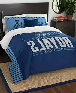 Kansas City Royals MLB Baseball Full Queen Size Bed Comforte