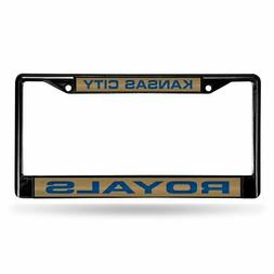 Kansas City Royals MLB Black Metal Laser Cut License Plate F