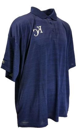 Kansas City Royals Majestic MLB Blue Coolbase Polo Shirt Tea