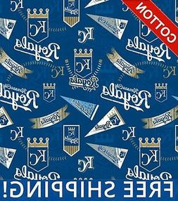 "Kansas City Royals MLB Cotton Fabric - 58"" Wide - Style# 144"