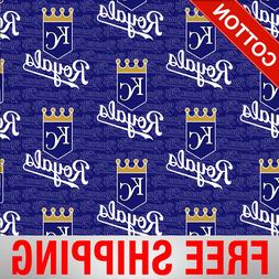 Kansas City Royals MLB Cotton Fabric - Style# 6681 - Free Sh