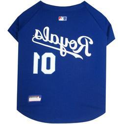 Kansas City Royals MLB Pets First Licensed Dog Jersey, Blue