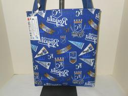 Kansas City Royals MLB logo inspired cotton fabric tote bag