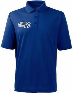 Kansas City Royals MLB Majestic MJM Dri Fit Polo Shirt Blue