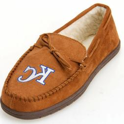 Kansas City Royals MLB Moccasin Slipper Tan