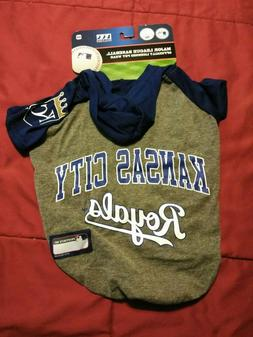 KANSAS CITY ROYALS MLB PET DOG  Hoodie T-shirt Size Medium N