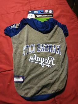 KANSAS CITY ROYALS MLB PET DOG  Hoodie T-shirt Size Large Ne