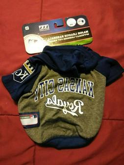 KANSAS CITY ROYALS MLB PET DOG  Hoodie T-shirt Size Small Ne