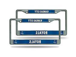 Kansas City Royals MLB  Chrome Metal License Plate Frames