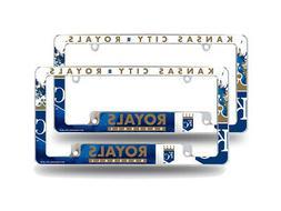 Kansas City Royals MLB  Chrome License Plate Frames with Bol