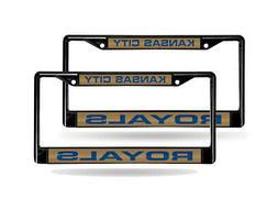 Kansas City Royals MLB  Black Metal Laser Cut License Plate