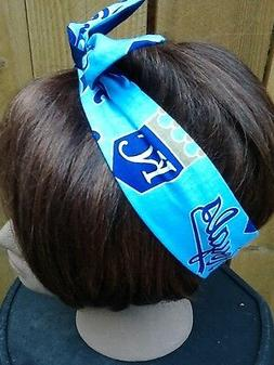 Kansas City Royals  MLB Wired Dolly Bow Rockabilly Scarf Hea