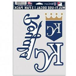 Kansas City Royals Multi Use Fan 3 Pack Decal Set  MLB Stick