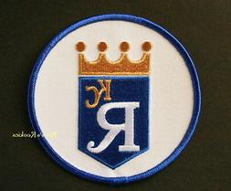 """KANSAS CITY ROYALS OFFICIAL ROUND MLB SLEEVE PATCH 4"""""""