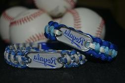 Kansas City Royals Paracord Bracelet w/ MLB Dog Tag and Meta