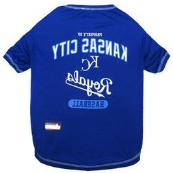 Kansas City Royals Pet Tee Shirt; MLB Official; Size Large L