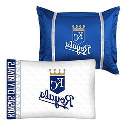 2pc MLB Kansas City Royals Pillowcase and Pillow Sham Set Ba
