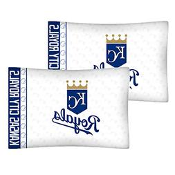 Set of 2 MLB Kansas City Royals Pillowcases Baseball Team Lo