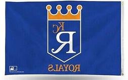 Kansas City Royals RETRO Premium 3x5 Flag w/Grommets Outdoor