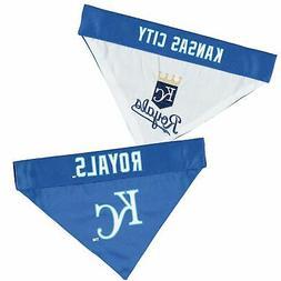 Kansas City Royals Reversible Bandana Pet Collar - Royal/Whi