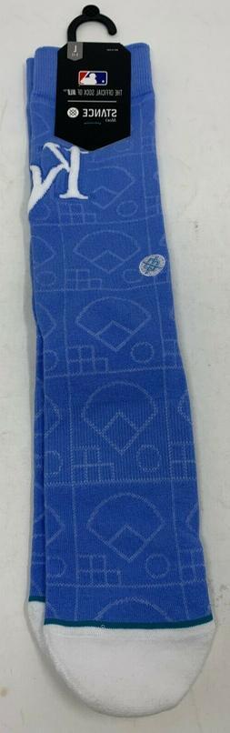 Stance Kansas City Royals Scorebook Crew Socks Blue Men's Sz