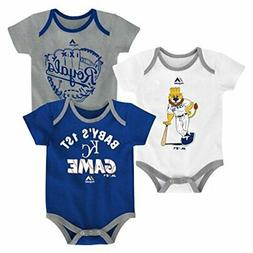Kansas City Royals Small Fan Baby/Infant 3 Piece Creeper Set
