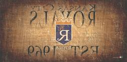 Kansas City Royals Throwback Retro Heritage Est Wood Sign 12