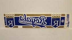 KANSAS CITY ROYALS Vintage Team Bumper Sticker  Decal Strip