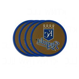 Kansas City Royals Vinyl Coasters Set of 4 New