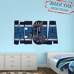 Kansas City Royals Wall Decal Art Custom Name Sticker Baseba