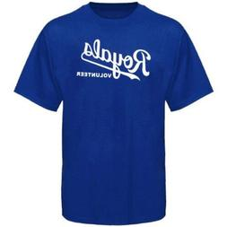 "Kansas City Royals Wordmark ""Volunteer"" Blue T Shirt Men's S"