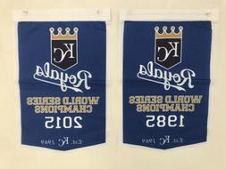 Kansas City Royals World Series Champions 2 Banners/Flags Se