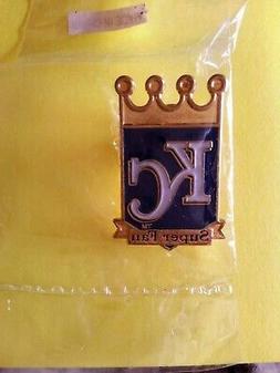 KC Kansas City Royals Super Fan Hat Lapel Pin Sealed