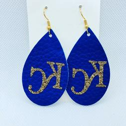 KC Kansas City Royals Women's Leather Earrings | KC Royals B