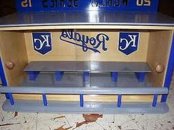 KC Royals Bobble heads display case with siding doors 2015 W