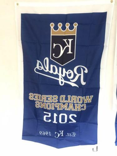Complete Kansas City Royals World 2 Banners/Flags 3' 5'