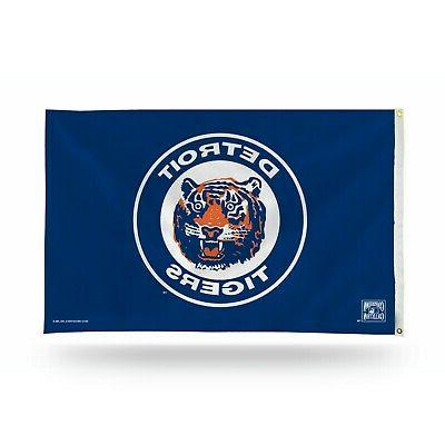 detroit tigers cooperstown mlb outdoor 3x5 flag