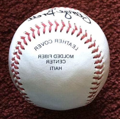 GEORGE BRETT Kansas City Royals Autographed Baseball