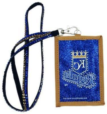 kansas city royals beaded lanyard wallet new
