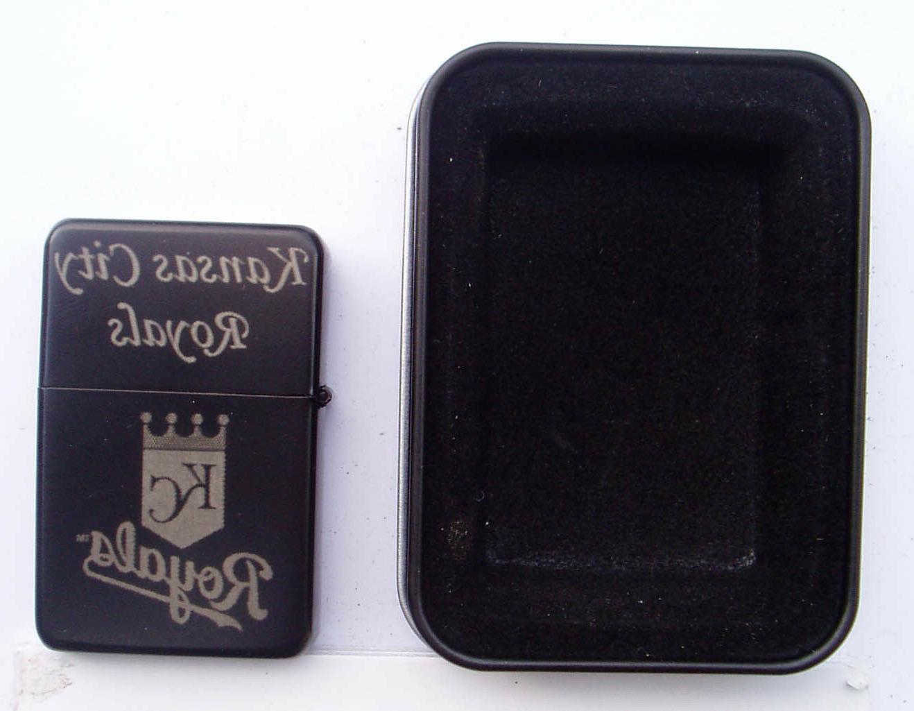 kansas city royals black plated brass refillable