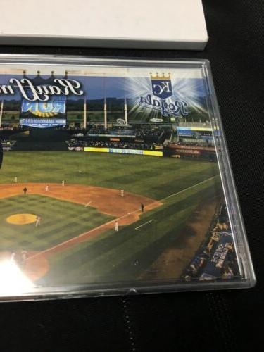 Kansas Card & Baseball Kauffman Field 24kt Gold Flashed