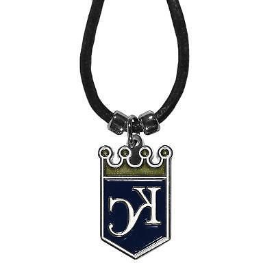 Kansas City Royals Cord Necklace with Logo Charm MLB License