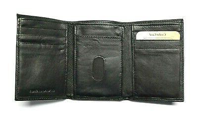 Kansas City Leather Trifold Wallet Rico -Black