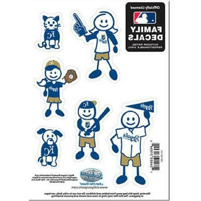 kansas city royals family decals 6 pack