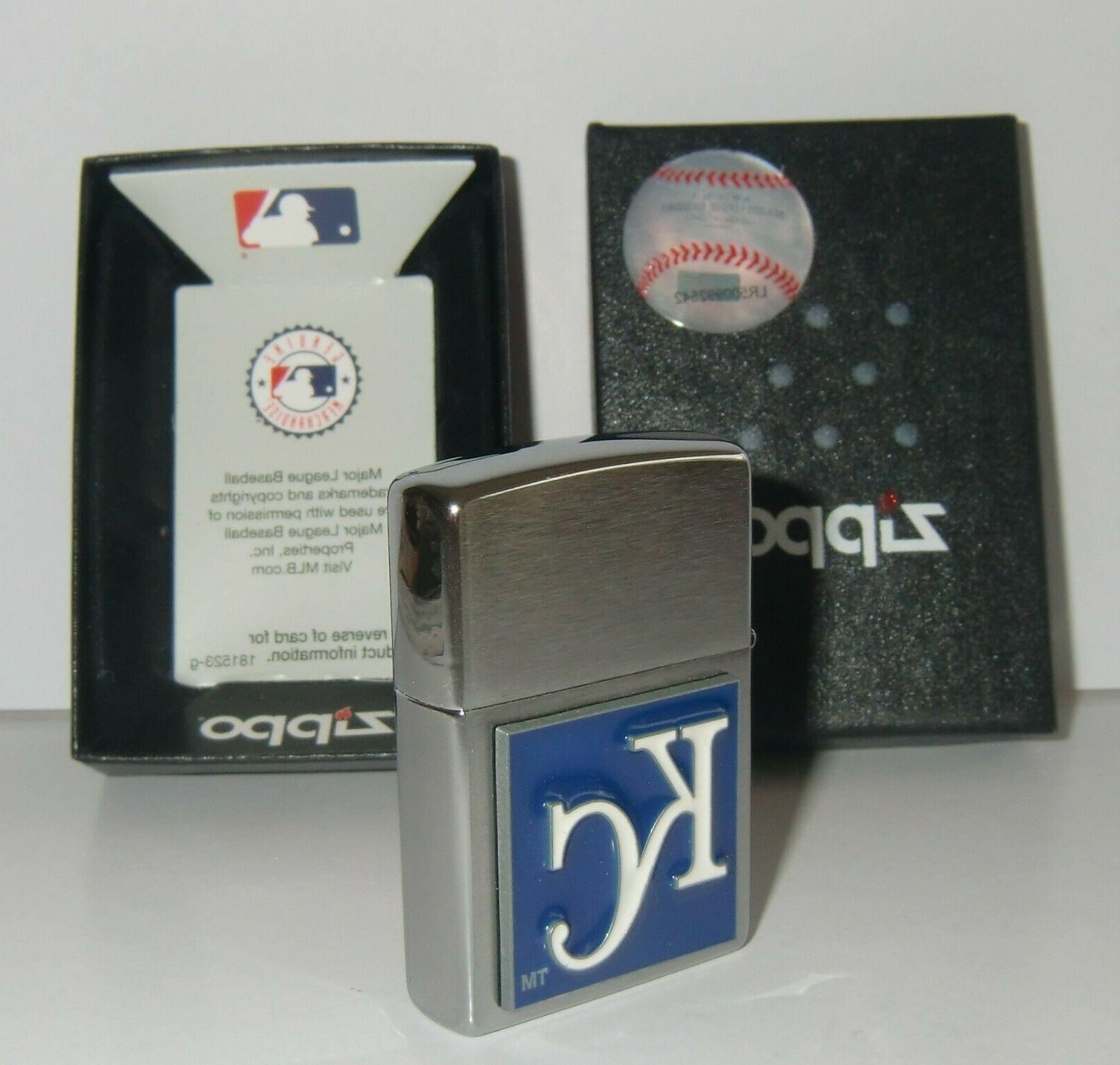 Kansas City Zippo 3-D Logo Licensed MLB
